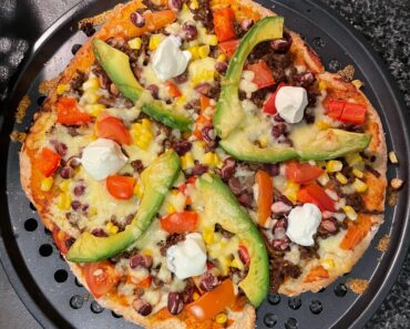 Mexican Pizza Dish With Healthy Homemade Base