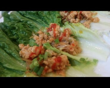 Low Carb Meal: Chicken Lettuce Wraps + Collard Greens
