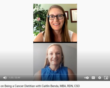 The Scoop on Being a Cancer Dietitian with Caitlin Benda, MBA, RDN, CSO